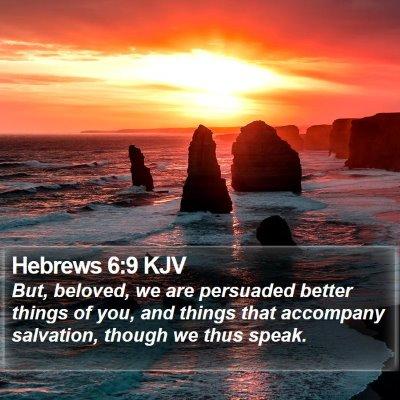 Hebrews 6:9 KJV Bible Verse Image
