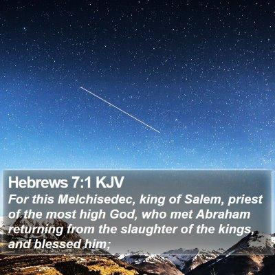 Hebrews 7:1 KJV Bible Verse Image