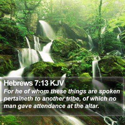 Hebrews 7:13 KJV Bible Verse Image