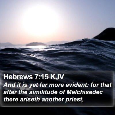 Hebrews 7:15 KJV Bible Verse Image