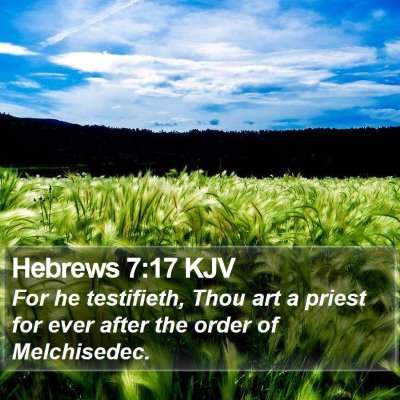 Hebrews 7:17 KJV Bible Verse Image