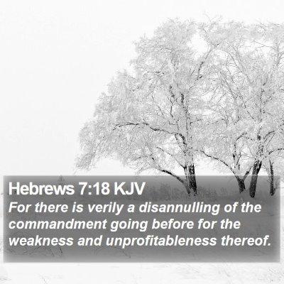 Hebrews 7:18 KJV Bible Verse Image
