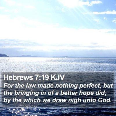 Hebrews 7:19 KJV Bible Verse Image