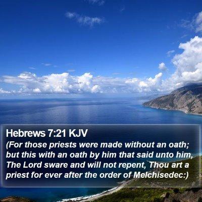 Hebrews 7:21 KJV Bible Verse Image