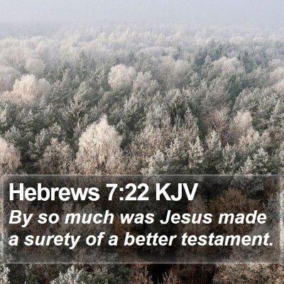Hebrews 7:22 KJV Bible Verse Image