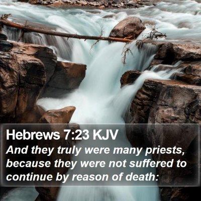 Hebrews 7:23 KJV Bible Verse Image