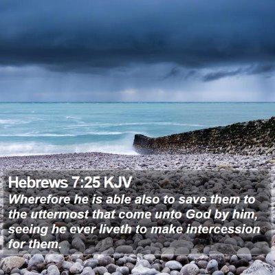 Hebrews 7:25 KJV Bible Verse Image