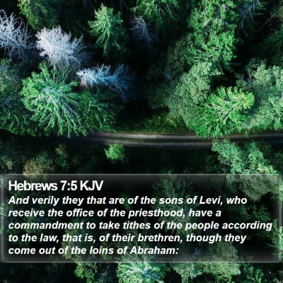 Hebrews 7:5 KJV Bible Verse Image
