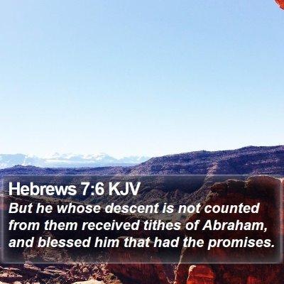 Hebrews 7:6 KJV Bible Verse Image