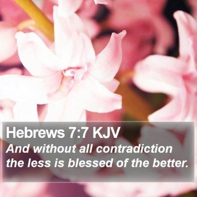 Hebrews 7:7 KJV Bible Verse Image