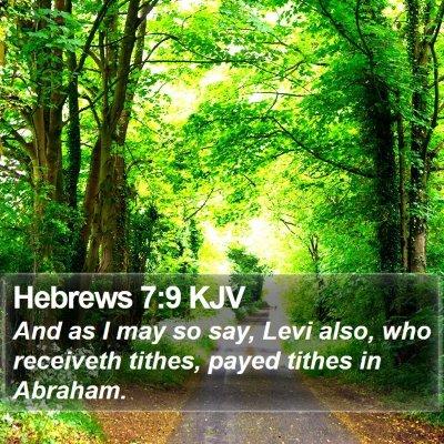 Hebrews 7:9 KJV Bible Verse Image