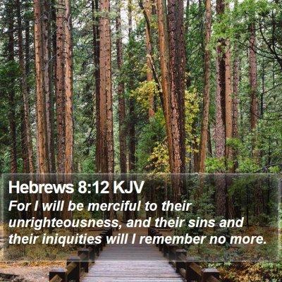 Hebrews 8:12 KJV Bible Verse Image