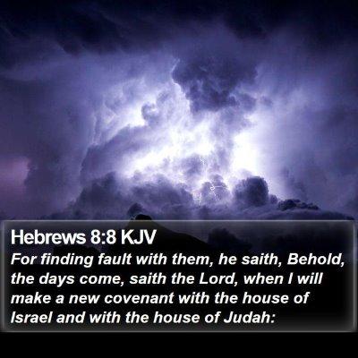 Hebrews 8:8 KJV Bible Verse Image