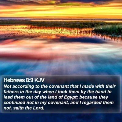 Hebrews 8:9 KJV Bible Verse Image