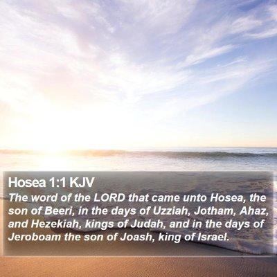 Hosea 1:1 KJV Bible Verse Image