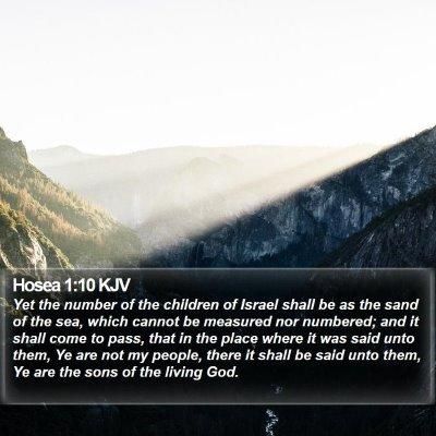 Hosea 1:10 KJV Bible Verse Image