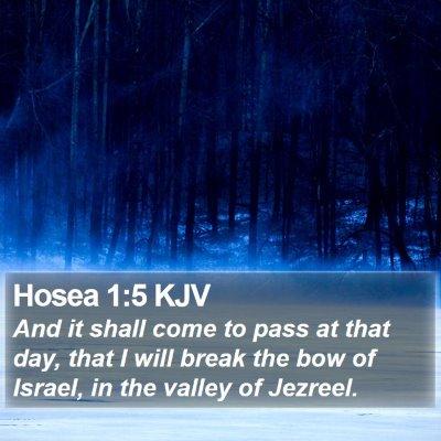 Hosea 1:5 KJV Bible Verse Image