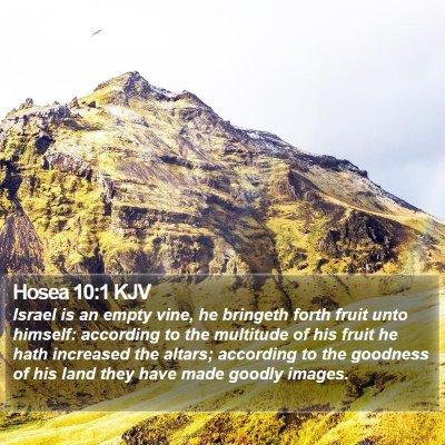 Hosea 10:1 KJV Bible Verse Image