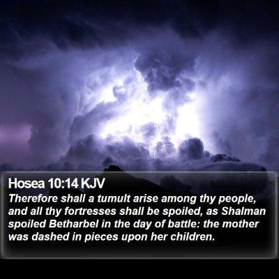 Hosea 10:14 KJV Bible Verse Image