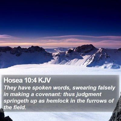 Hosea 10:4 KJV Bible Verse Image