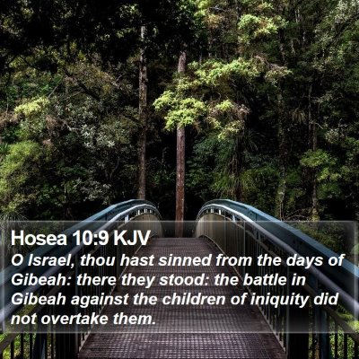 Hosea 10:9 KJV Bible Verse Image