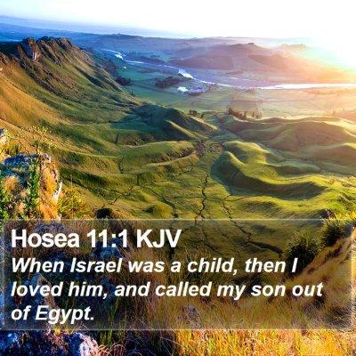 Hosea 11:1 KJV Bible Verse Image