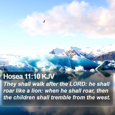Hosea 11:10 KJV Bible Verse Image