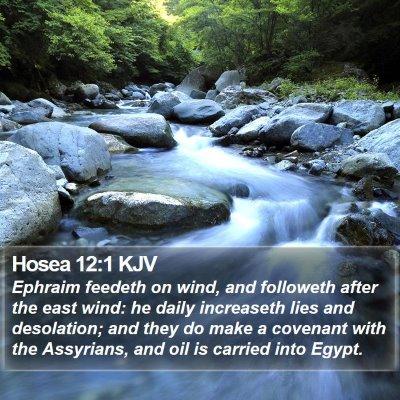 Hosea 12:1 KJV Bible Verse Image