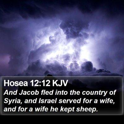 Hosea 12:12 KJV Bible Verse Image