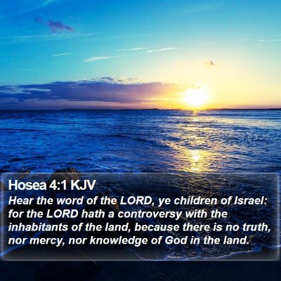 Hosea 4:1 KJV Bible Verse Image