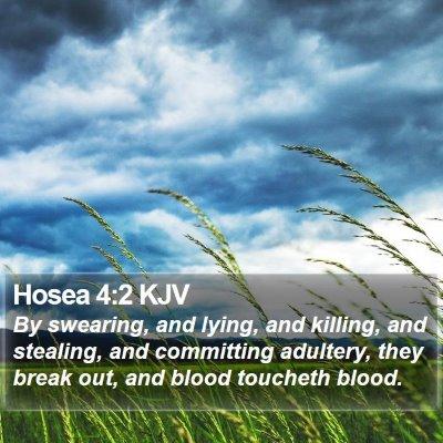 Hosea 4:2 KJV Bible Verse Image