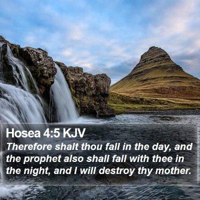 Hosea 4:5 KJV Bible Verse Image