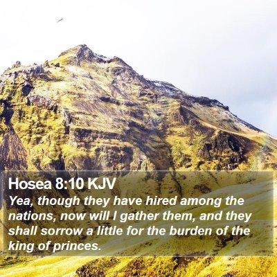 Hosea 8:10 KJV Bible Verse Image