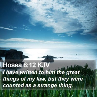 Hosea 8:12 KJV Bible Verse Image