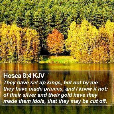 Hosea 8:4 KJV Bible Verse Image