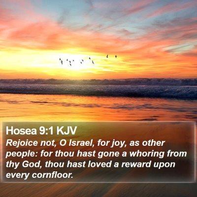 Hosea 9:1 KJV Bible Verse Image