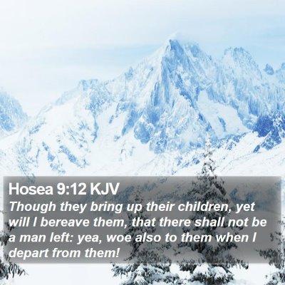 Hosea 9:12 KJV Bible Verse Image