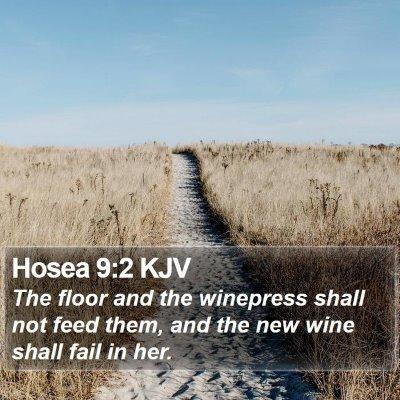Hosea 9:2 KJV Bible Verse Image