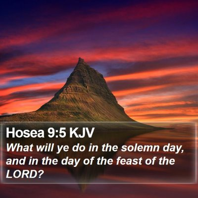 Hosea 9:5 KJV Bible Verse Image