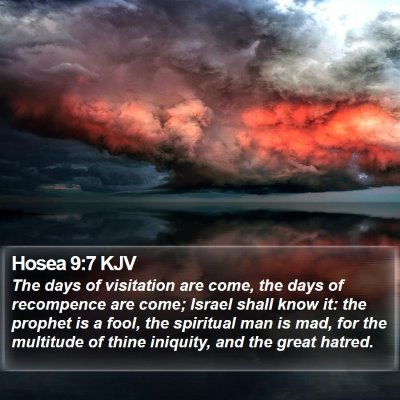 Hosea 9:7 KJV Bible Verse Image