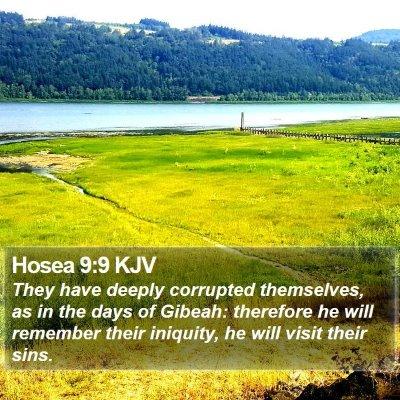 Hosea 9:9 KJV Bible Verse Image