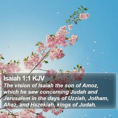 Isaiah 1:1 KJV Bible Verse Image