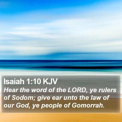 Isaiah 1:10 KJV Bible Verse Image