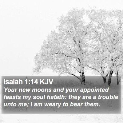 Isaiah 1:14 KJV Bible Verse Image