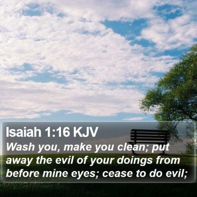 Isaiah 1:16 KJV Bible Verse Image