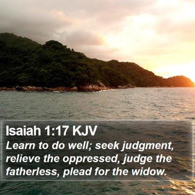 Isaiah 1:17 KJV Bible Verse Image