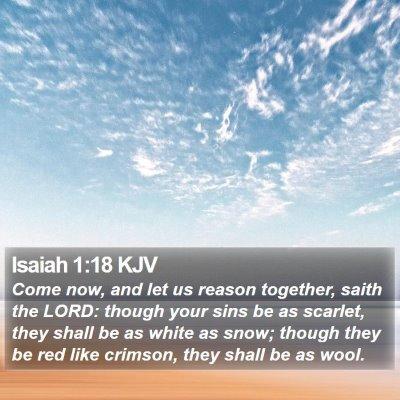 Isaiah 1:18 KJV Bible Verse Image