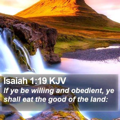 Isaiah 1:19 KJV Bible Verse Image