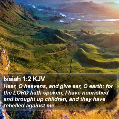 Isaiah 1:2 KJV Bible Verse Image