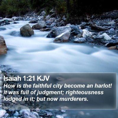Isaiah 1:21 KJV Bible Verse Image